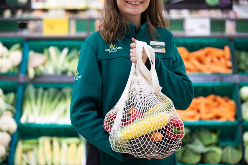 String fruit and veg bags from the 80s make a comeback at Morrisons